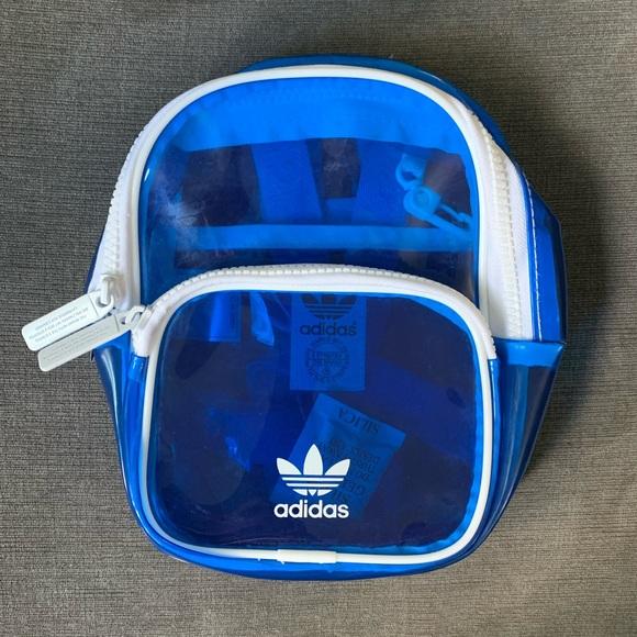 *NWOT* Mini Adidas Clear Blue & White Backpack